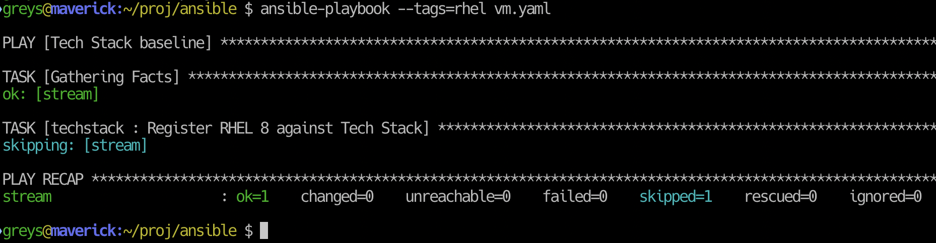 Ansible playbook with Red Hat tag