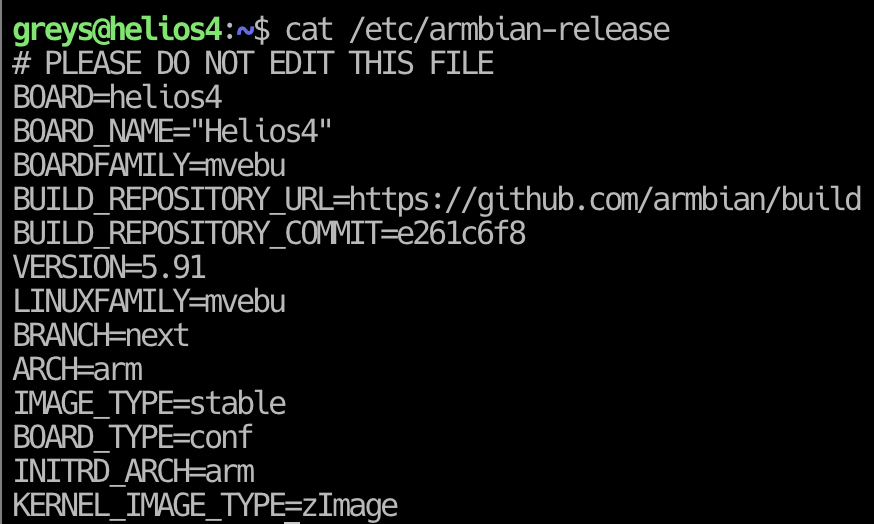 Armbian Release 5.91