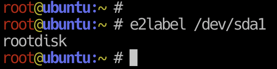 e2label in EXT