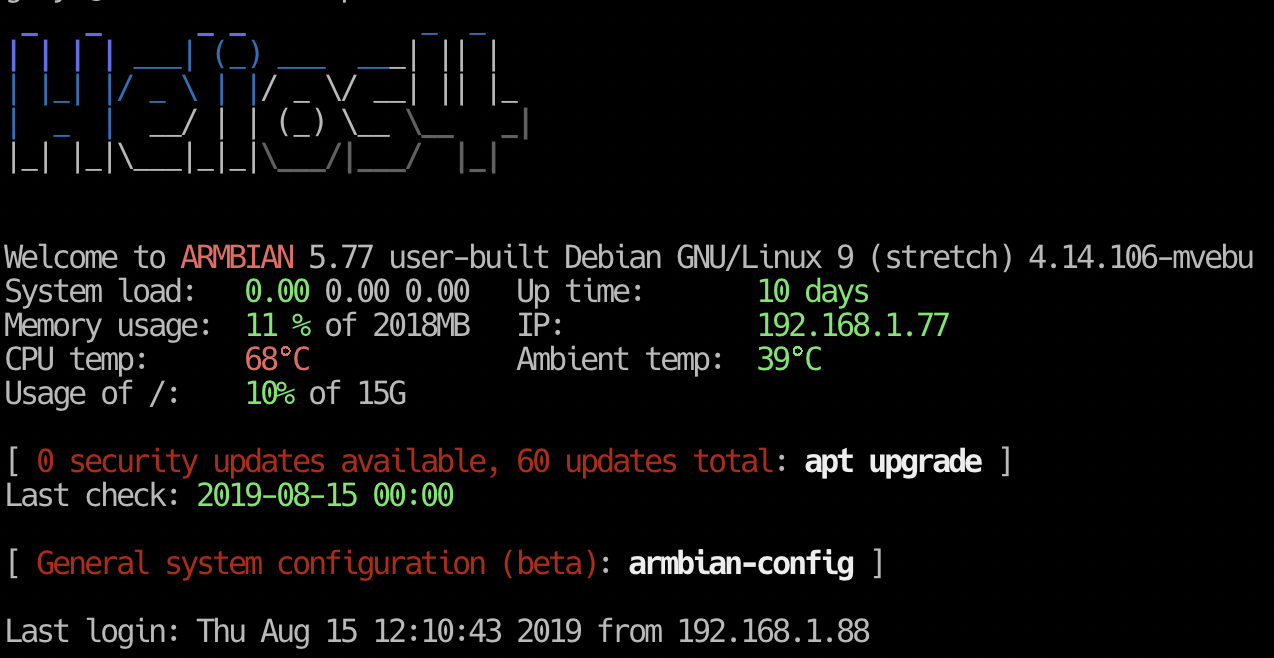 Armbian 5.77 on Helios 4