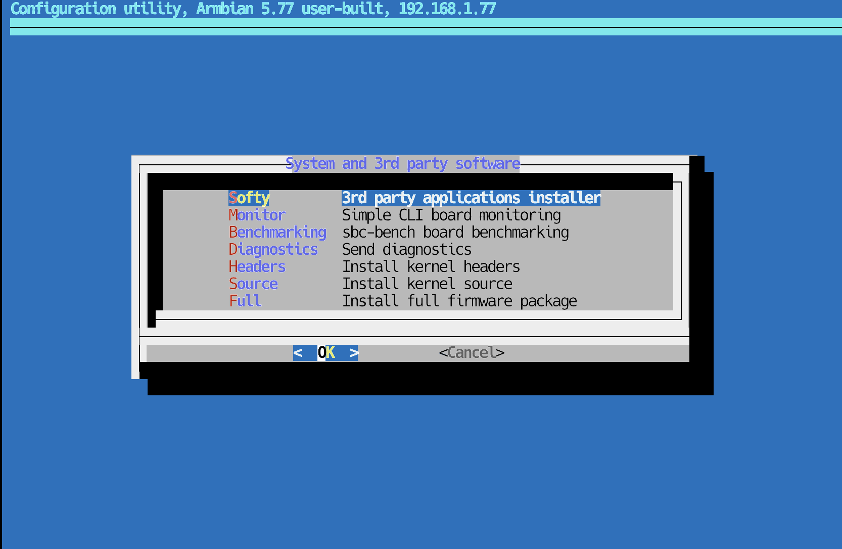 Installing Softy in Armbian