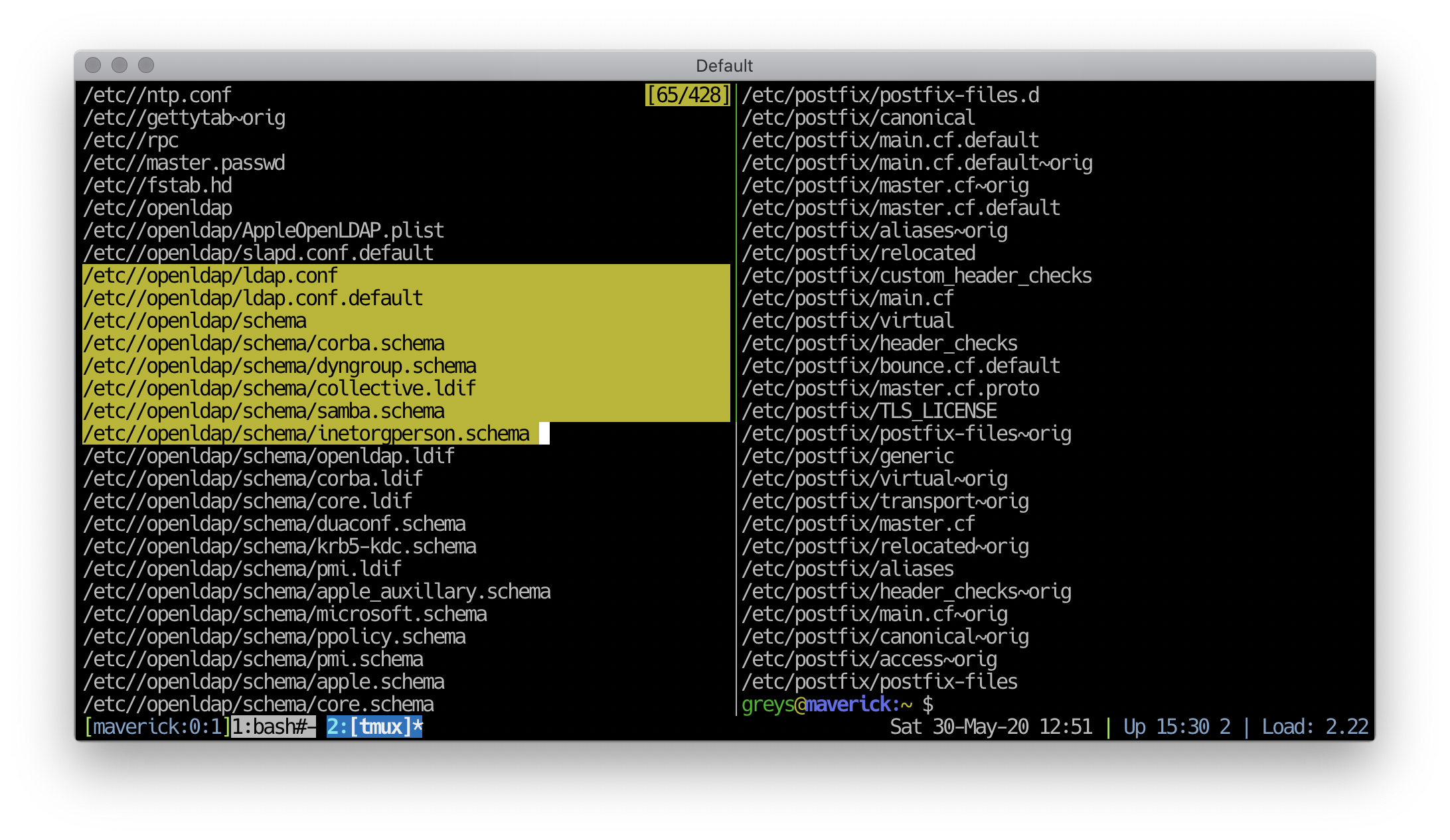 Text selection with mouse in tmux