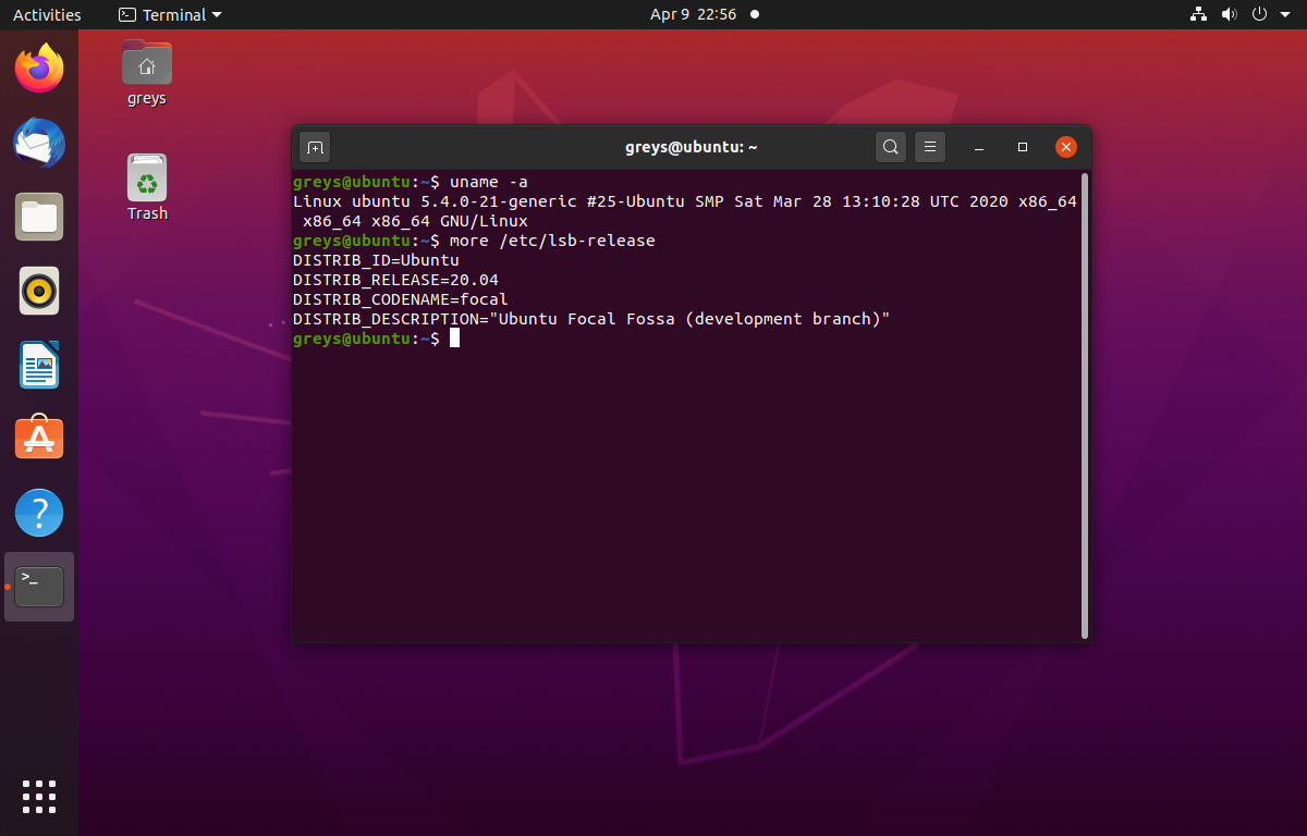 Ubuntu 20.04 - Focal Fossa - Beta